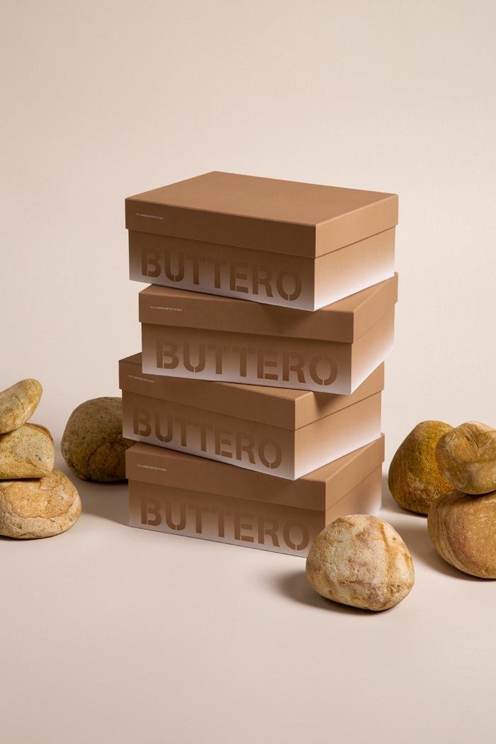 Scatola per calzature per Buttero project. Scatola due pezzi con interno perosnalizzato