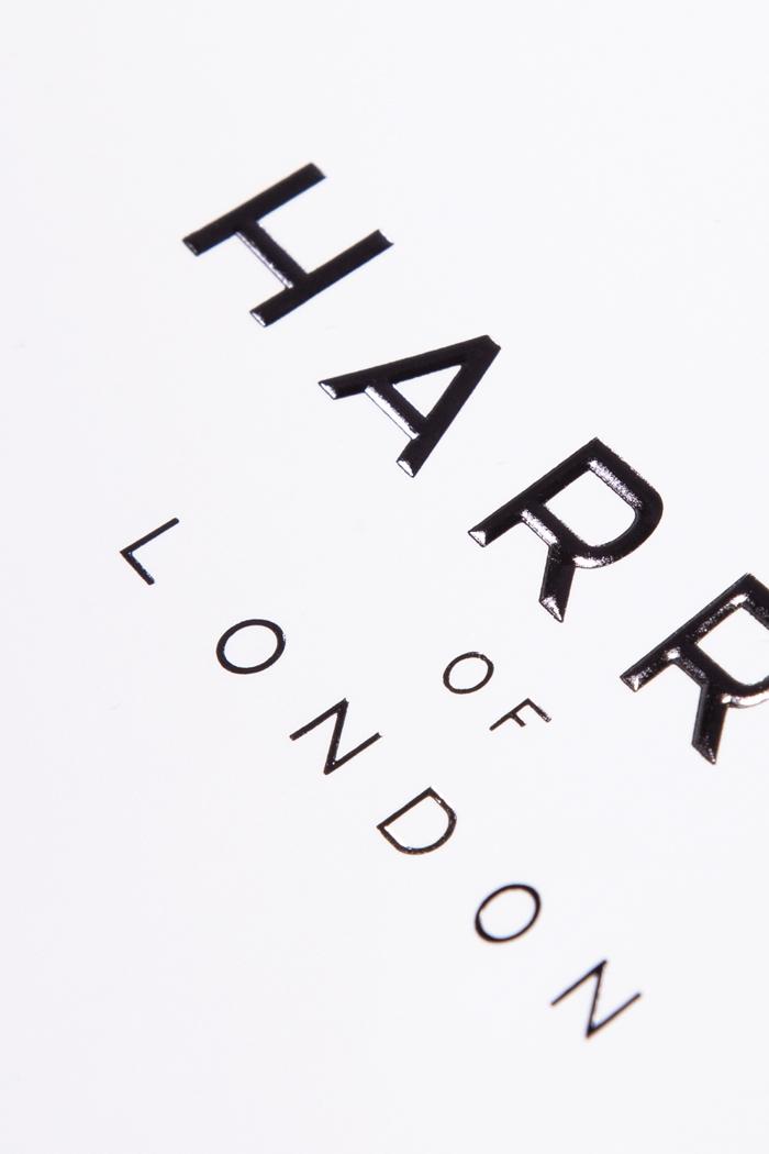 Stampa a rilievo nero lucido e carta opaca