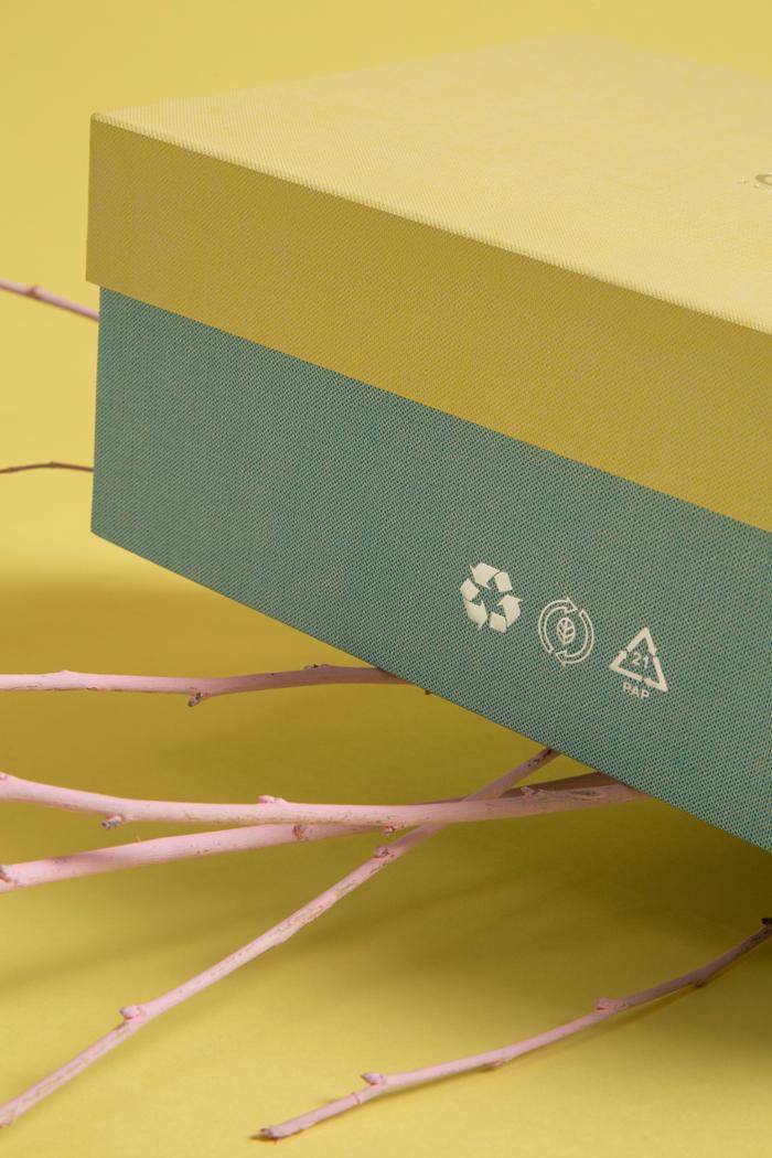 Carta 100% ecologica riciclabile e riciclata goffrata