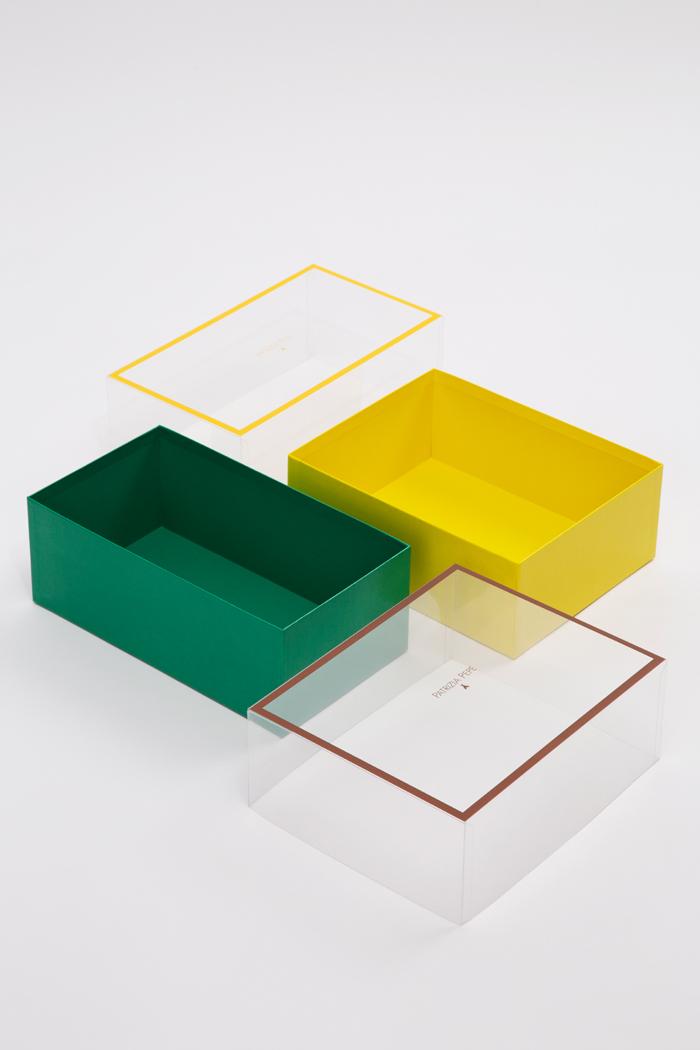Tipologia scatole: Coperchio pvc trasparente